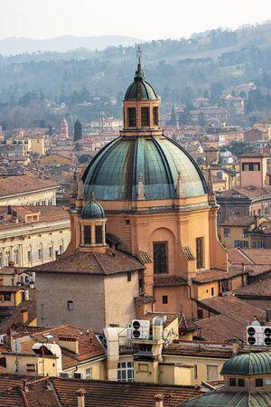 Dome with lantern (1787) of the Sanctuary of Santa Maria della Vita (Saint Mary of the life, 1687-1787) Bologna, Emilia-Romagna, Italy, Europe