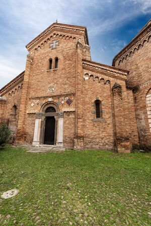 Bologna, Basilica of Santo Stefano or the Seven Churches, on the left the basilica of Saints Vitale and Agricola, on the right the basilica of the Sepulcher. Emilia-Romagna, Italy, Europe Banque d'images