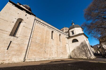 San Vigilio Cathedral (Duomo di Trento, 1212-1321) in Romanesque and Gothic style, Trento downtown, Trentino-Alto Adige, Italy, Europe