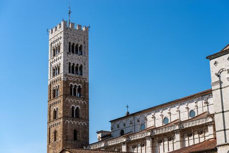 Lucca. Cathedral of San Martino (Saint Martin), in Romanesque Gothic style, XI century. Tuscany, Italy, Europe Banque d'images