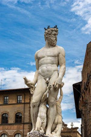 Fountain of the Neptune (Roman God) by Bartolomeo Ammannati 1560-1565, Piazza della Signoria, Florence