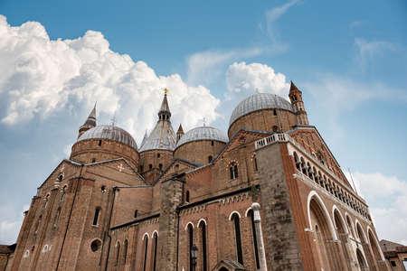Medieval Basilica of Sant'Antonio di Padova (Saint Anthony of Padua) in Romanesque and Gothic style (1238-1310), Piazza del Santo, Veneto, Italy, Europe.
