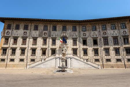 Palazzo della Carovana or dei Cavalieri. Ancient palace, building of the University (Scuola Normale Superiore di Pisa), in Piazza dei Cavalieri (Square of the Knights), Tuscany, Italy, Europe Editoriali