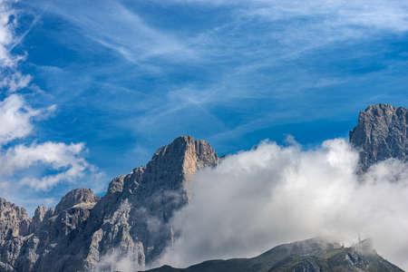 Pale di San Martino, peaks of the Dolomites in Italian Alps