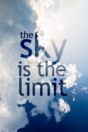 Obloha je limit Reklamní fotografie
