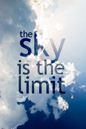 limit: The sky is the limit Stock Photo