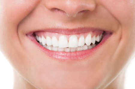 Close-up with beautiful smile and perfect teeth Reklamní fotografie