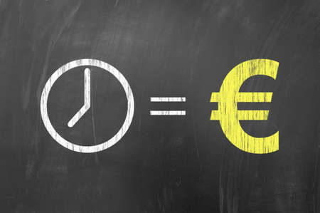 Time Is Money European Concept Using Euro Money Symbol On