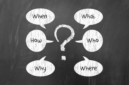 questionable: Basic questions like when, how, why, what, who, where on blackboard