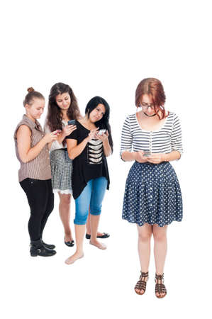 bullying: Text bullying girls using cell phones