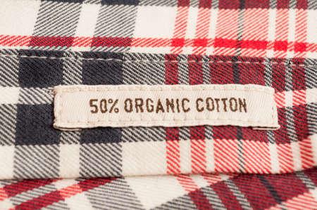 organic cotton: Biologica tessile cotone sulla camicia a scacchi
