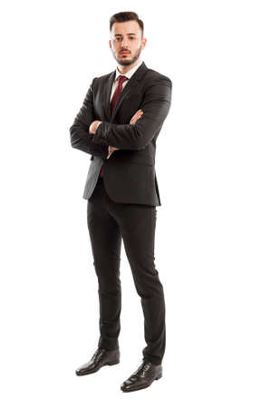 Tall and successful business man