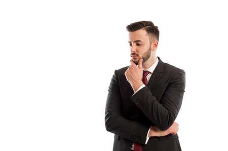 the thinker: Business thinker Stock Photo