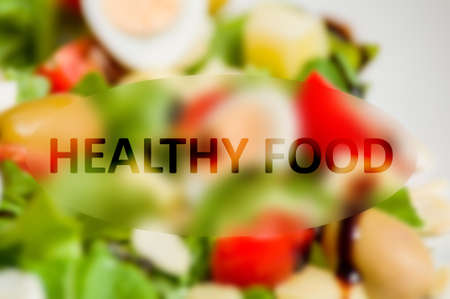 healty food: Healty food concept with vegetable background Stock Photo