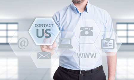 get in touch: Contact us options or get in touch with us or our company concept