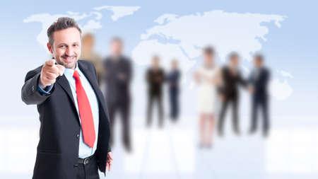 new employee: Employeer selecting new employee with business people background
