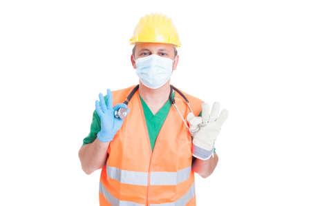 decission: Medico, medico o costruttore o costruttore di posti di lavoro. Ricerca di lavoro e trovare il concetto