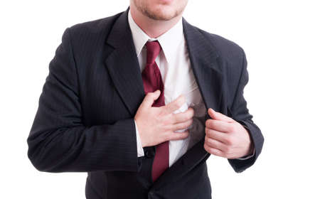 heartattack: Business stress and heart atack concept with businessman hand grabbing painful chest