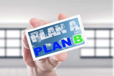 plan b: Plan B concept while plan A is disolving
