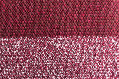 crocheted: Close-up of bBurgundy wool crocheted texture or patern Stock Photo