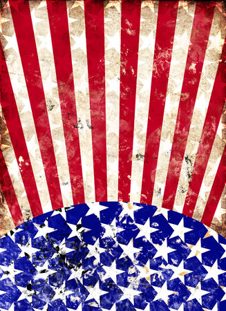 free vote: Dirty grunge american flag for a background