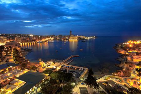 malta: Aerial view of St. Julian