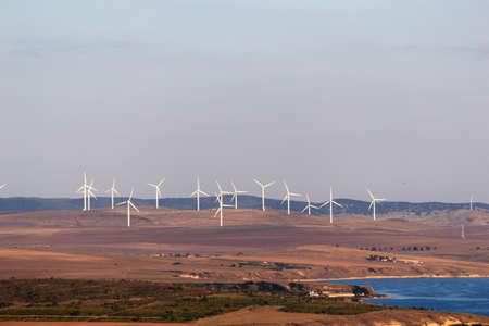 eolian: Eolian generators near Enisala in Dobrogea Romania.