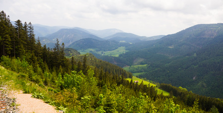 schneeberg: Alpine mountain hiking path near Schneeberg, in Lower Austria Stock Photo