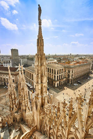 Milan Cathedral rooftop view