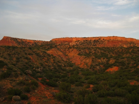 Red Cliffs at sunset in Palo Duro Canyon, Amarillo, Texas