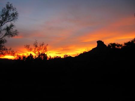 Sunset in Palo Duro Canyon, Amarillo, Texas