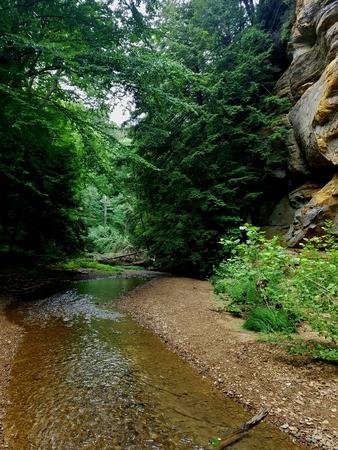 Creek running through a hill