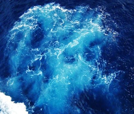 Foamy sea water in the Atlantic ocean