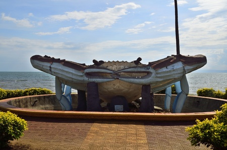 Kep, Cambodia, is famous because of its crabs  There is even one crab statue in front of the sea  Stock Photo - 12848858