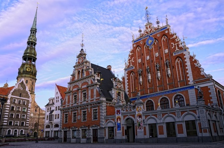 latvia: The charm of the capitol of Latvia is doubtless  This square is one of the pearls of Riga  Editorial