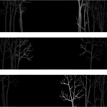 trädstam: Vector background with trunk of trees, hand drawn vector illustration