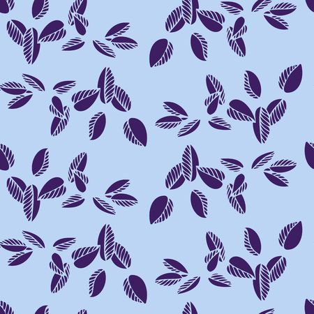 thorn bush: Seamless vector floral pattern with drawing branches and leaves, hand drawn vector illustration