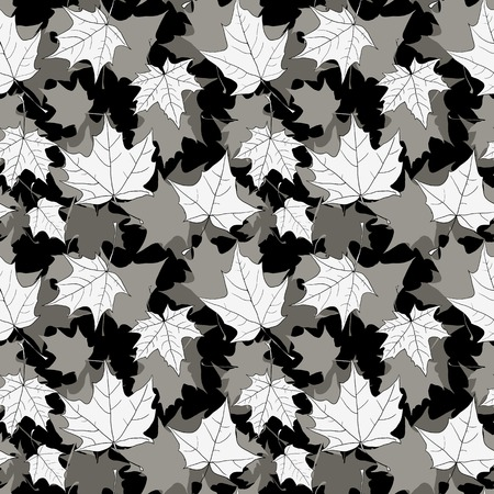 seamless pattern with leavess of maple, vector illustration Vector