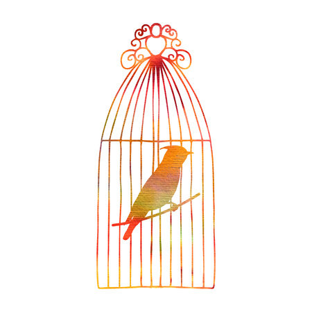 Waxwing in a cage