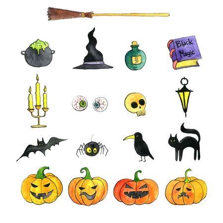spider web: halloween doodle set