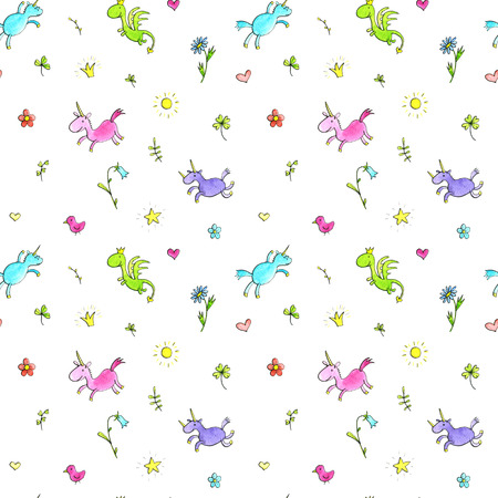 elf queen: magic doodle seamless pattern