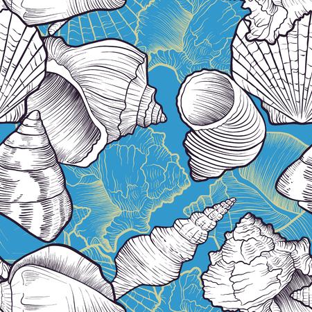 Pattern with seashells.