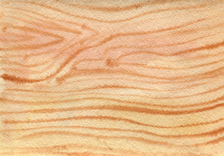 watercolor wood texture, hand drawn illustration, art background Stock Photo