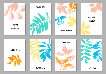 Template with leaves silhouettes.