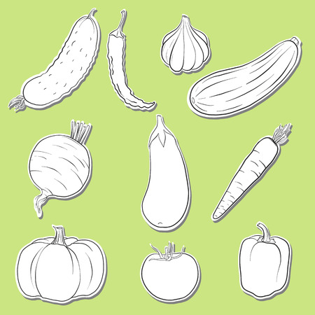 Vector drawing of vegetables Ilustracja