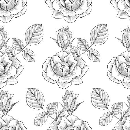 vintage  floral seamless pattern Vector illustration.