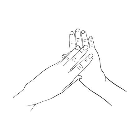 Weibliche Hände , die Creme auftragen Vektorgrafik