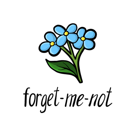 vector flower of forget-me-not