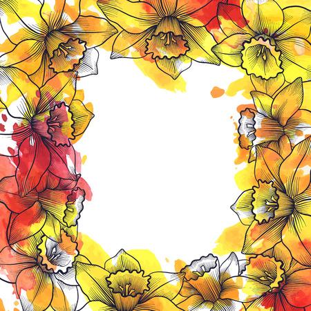 vintage vector floral background Illustration