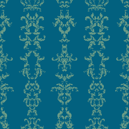 vector rococo seamless pattern